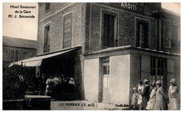 78 - Le PERRAY -- Hôtel Restaurant De La Gare M. J. BONNEVIDE - Le Perray En Yvelines