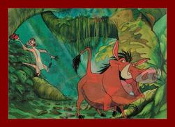 Théme Disney * Carte Vision Relief *  Ps 231 Timon Puumba   ( Voir Scans Recto-Verso ) Dos écrit - Sonstige