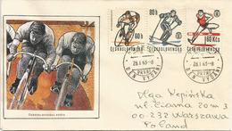 Jana Švermy Stadium Cycling & Sports Championship. Prague, Letter Addressed To Poland - Wielrennen