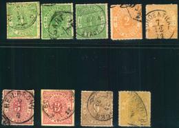 1869, 1 (3),2 (2),3 (2),9 Und 14 Kreuzer Ziffer Im Eirund. Leicht Unterschiedlich Aber Sammelwürdig. Michel 460,-
