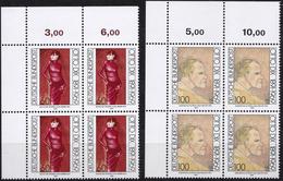 """BRD, 1991 Nr. 1572-1573 **,  2 Viererblöcke Mit ER Oben Links, """"Otto Dix"""""""