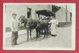 Montigny-le-Tilleul Où Environs - Charette Du Marchand De Légumes ... à Situer - Carte Photo ( Voir Verso ) - Montigny-le-Tilleul