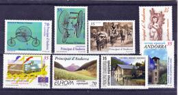 Andorre Espagnol 253 à 260 Année 1999 Poste Complète  Neuf ** MNH Sin Charmela Cote 8