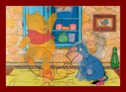 Théme Disney * Carte Vision Relief *  PS 233 WINNIE THE POOH  ( Voir Scans Recto-Verso ) Dos écrit - Sonstige