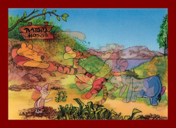 Théme Disney * Carte Vision Relief *  PS 235 WINNIE THE POOH  ( Voir Scans Recto-Verso ) Dos écrit - Sonstige
