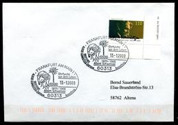 """Germany 2000 Sonderbeleg Albert Schweitzer Mit Mi.Nr.2090 Und SST""""Frankfurt/M.-Albert Schweizer,Ehrfurcht Vor.."""" 1 Beleg"""