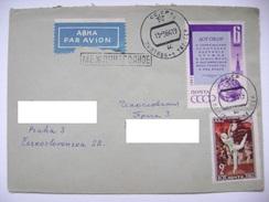 Soviet Union/USSR Cover 1964 From Poltava (now Ukraine) To CSSR - Stamp Nuclear Test-Ban Treaty Mi 2827, Ballet Mi 2578A