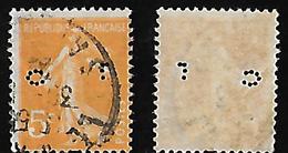 Semeuse N° 158 Perforé/perfins CL 188 - France