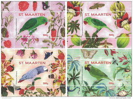 ST. MAARTEN SINT MAARTEN 2016 ** Parrots Papageien Perroquets No. 1 4S/S I-IV - OFFICIAL ISSUE - A1707