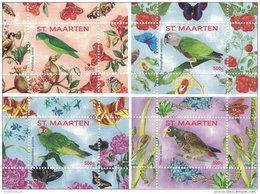 ST. MAARTEN SINT MAARTEN 2016 ** Parrots Papageien Perroquets No. 1 4S/S V-VIII - OFFICIAL ISSUE - A1707
