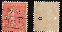 Semeuse N° 199 Perforé/perfins CL 188 - France