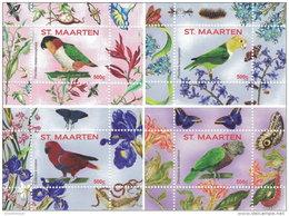 ST. MAARTEN SINT MAARTEN 2016 ** Parrots Papageien Perroquets No. 1 4S/S IX-XII - OFFICIAL ISSUE - A1707