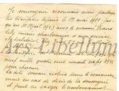 Document Ancien / Lettre / Famille Triffet / Mosselmans / Bruxelles / 2 Scans - Vieux Papiers