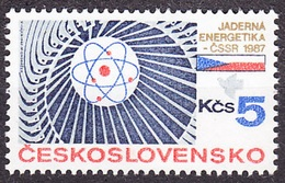 CZECHOSLOVAKIA 1987, Complete Set, MNH. Michel 2906. ATOM - MODEL. Good Condition, See The Scans.