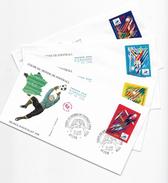 "Enveloppes  1er Jour FDC .1997  4 Enveloppes ""Coupe Du Monde De Football - FDC"