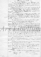 Document Ancien / Acte / Akte / Famille Triffet / Mosselmans / Bruxelles - Vieux Papiers