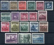 33411) BÖHMEN&MÄHREN # 1-19 Postfrisch GEPRÜFT Aus 1939, 120.- €
