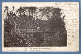 Laos Un Pont à Khong Mottet Sylvia  Postes Indochine Francaise 2 X 5 Vert 1905 - Laos