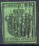 Sello 4 Onzas Servicio Oficial 1854, Edifil Num 30 º - Usados