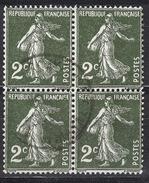 FRANCE 1932 -  BLOC DE 4 TP - Y.T. N° 278  - OBLITERES - FD552