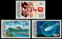 ~~~ Micronesia 1985 - Peace, Ships, Comet Halley - Mi. 50/52  ** MNH ~~~ - Micronesië