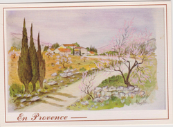 Région :!  En Provence , Aquarelle De  Vézolle