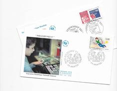 """Enveloppes  1er Jour FDC .1997  2 Enveloppes """"Thèmes Différents"""" - FDC"""
