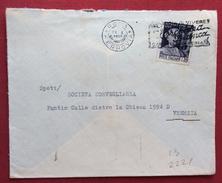 CIMAROSA  L. 20  ISOLATO SU BUSTA  DA ROMA  A VENEZIA  IN DATA  28/1/1950 - 6. 1946-.. Republic