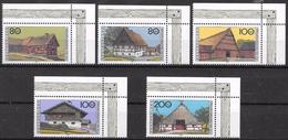 Bund 1995 / MiNr.   1819 – 1823  Rechte Obere Ecken  ** / MNH   (e653)