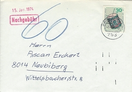 "Berlin - Cover ""Nachgebühr. Pforzheim 1974. H-957 - Covers"