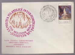 COVER Minerals -philatelic Exhibition Interjudeteana-GEOSPEPA- MOLDOVA NOUA -1987