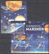 B146 2012 MOCAMBIQUE SPACE MARINER 2 1KB+1BL MNH