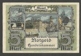 MEMEL / LITHUANIA / GERMANY 5 Mark 1922 PICK#4, Ros.#849 AUNC-UNC BANKNOTE - [ 9] Occupied German Territories