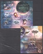 B148 2012 MOCAMBIQUE SPACE CURIOSITY DE MARTE 1KB+1BL MNH