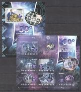 B150 2012 MOCAMBIQUE SPACE ALOUETTE 1 1KB+1BL MNH