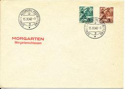 Switzerland Cover Schweiz Automobil-Postbureau 15-9-1948 Morgarten Morgartenschiessen