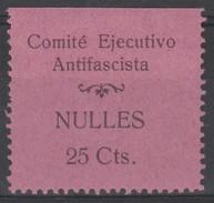 España Guerra Civil Viñeta  NULES  Comite Ejecutivo Antifascista  25c  GG 986 RR *  V176.1 - Vignettes De La Guerre Civile