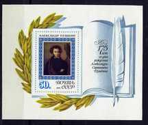 Russie ** Bloc N° 95 - 175e Ann. De La Naissance De Pouchkine, écrivain -