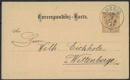 AZ227     Österreich, Ganzsache, Einkaufen Aussig  Nach Wittenberge 26.08.1889 - Interi Postali