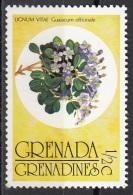 145 Grenada Grenadines 1976 Guaiacum Officinale Lignum Vitae Nuovo