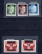 8815 Deutschland Germany Deutsches Reich Besetzung 1938-45 Kurland Mi 1+2 *gepr., Mi 3, Mi 4A DD  *, 4B DD  *