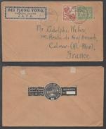 NED. INDIE - INDES NEERLANDAISES - TOELOENG - JAVA / 1921 LETTRE POUR COLMAR - ALSACE & VIGNETTE (ref 2658)