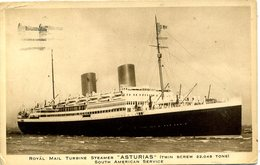 "ROYAL MAIL LINES - ""ASTURIAS"" 1943 - Steamers"