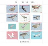 Sint Maarten 2016, Birds, 10val In Sheetlet