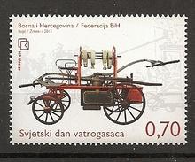 BOSNIA AND HERZEGOVINA 2013,POST MOSTAR,FIREMAN,TRUCK,,,MNH