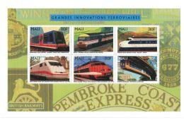 Mali - 1996 Historic Trains British Railways - Sc 774 Sheet Of 6 MNH