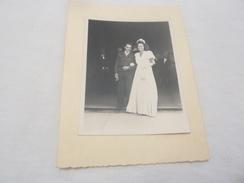 PHOTO ORIGINALE Mariage Un Soldat Militaire  1945 - Persone Identificate