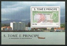 St Thomas Et Prince ** Bloc N° 96 - Ann. De  L'Indépendance - Billet De 100 Dollars -