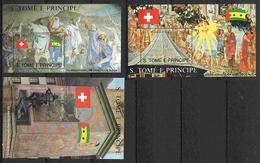 St Thomas Et Prince ** Blocs  N° 97 à 99 - 700e Ann. De La Confédération Helvétique -