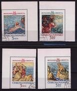 TCH 109 -TCHECOSLOVAQUIE N° 2110/11 + 2163/64 BDF Trésors Du Château De Prague